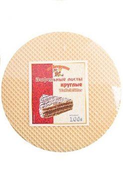 Вафельные листы для торта круглые