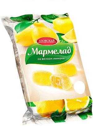 Мармелад со вкусом лимона, 300г. Россия с доставкой по Словении
