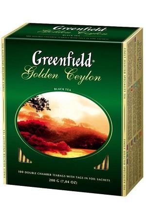 Čaj črni GOLDEN CEYLON, TM Greenfield, 100vr.x2g z dostavo v Sloveniji