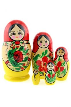 Матрешка классическая Семеновская, 5 кукол