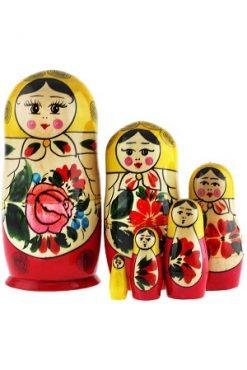 Матрешка классическая Семеновская, 6 кукол