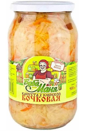 Kislo Slano zelje z brusnicami Baba Manja, 880g z dostavo v Sloveniji