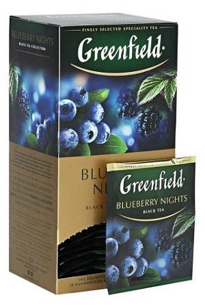 Чай Greenfield Blueberry nights, 25/2г. с доставкой по Словении