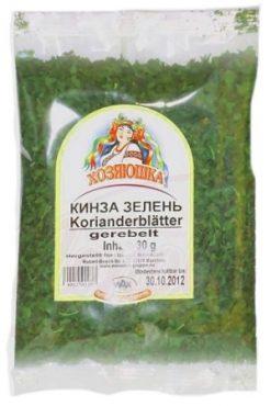 Высушенные листья кориандра (кинзы)