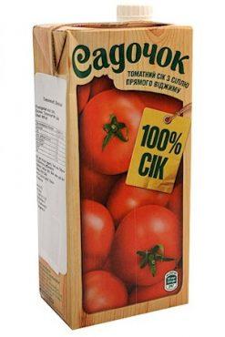 Сок томатный прямого отжима Садочок