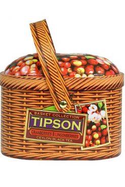 Črni ceylonski čaj TipsonBasket Cranberries & Lingonberriesz brusnico