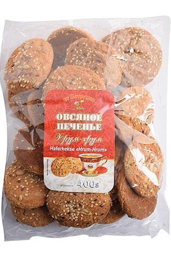 Овсяное печенье с кунжутом и семенами льна