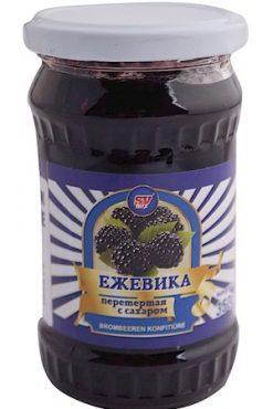 Ежевика с сахаром, варенье