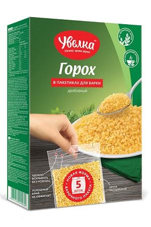 Горох дробленый в пакетиках, Увелка, Россия, 5х80г. с доставкой по Словении
