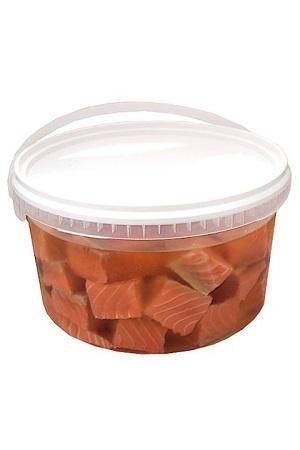 Соленое филе лосося в масле со специями без кожи, товар весовой с доставкой по Словении