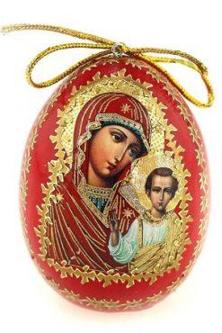Яйцо Религия деревянное красное