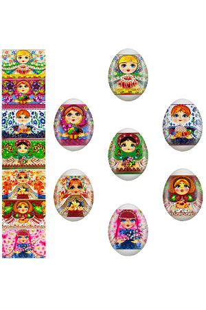Декоративная пасхальная плёнка Матрёшка, 5 шт. в комплекте с доставкой по Словении