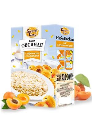 Овсяная каша с абрикосом и сливками,10пакетиковх41г. Россия с доставкой по Словении