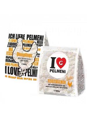 Pelmeni s piščančjim in govejim mesom, 1kg. Nemčija, zamrznjeni izdelki z dostavo v Sloveniji