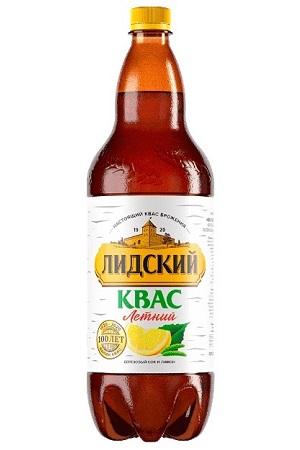 Квас Лидский летний с березовым соком и лимоном, 1,5л. с доставкой по Словении