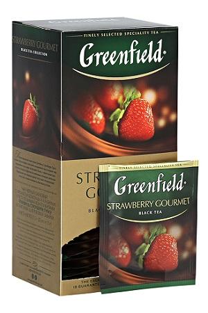 Čaj Greenfield Gurmanska Jagoda, 25x2g z dostavo v Sloveniji