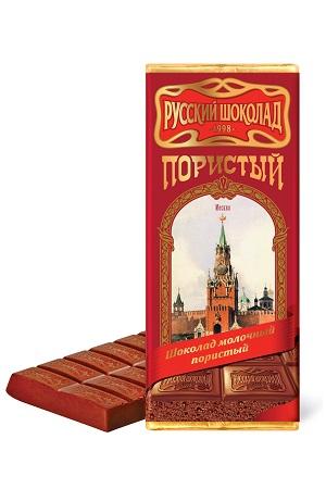 Русский шоколад пористый молочный, 90г. Россия с доставкой по Словении