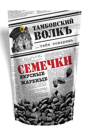 Жареные семечки Тамбовский волк 230г. Россия с доставкой по Словении