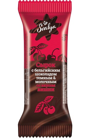 Творожный сырок с вишней в бельгийском шоколаде, 40г. Литва с доставкой по Словении