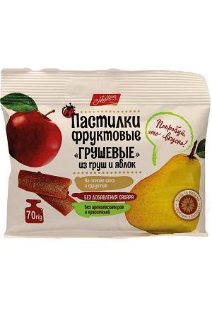 Пастилки фруктовые Грушевые из груш и яблок без сахара с доставкой по Словении