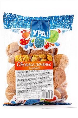 Овсяное печенье с отрубями, УРА 400г. Германия с доставкой по Словении