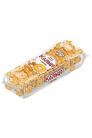 Печенье сдобное Кольцо с орешками Дымка, 225г. с доставкой по Словении