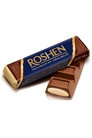 Шоколадный батончик Roshen крем-брюле, 43г. с доставкой по Словении