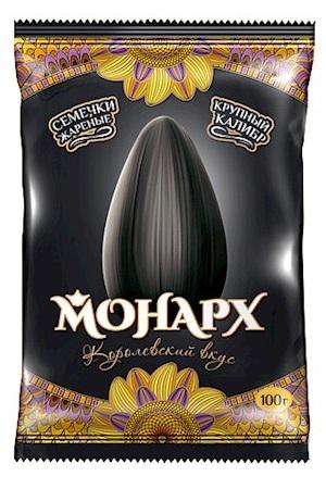 Pražena sončnična semena Monarh 100g. Rusija z dostavo v Sloveniji
