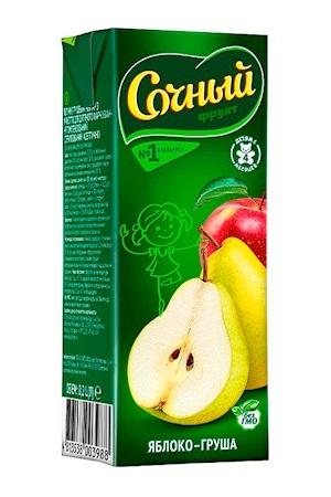 Nektar Sočnij frukt Jabolko-hruška, 200g z dostavo v Sloveniji