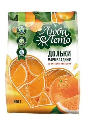 Мармелад Дольки со вкусом апельсина, 300г. Люби лето с доставкой по Словении