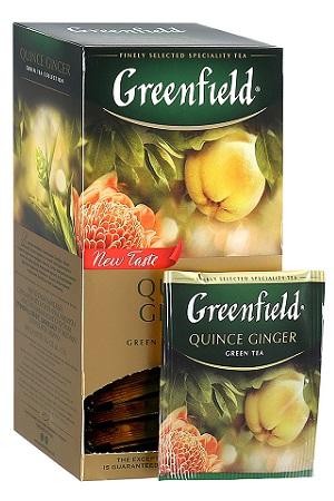 Чай Гринфилд Quince Ginger зеленый с ароматом японской айвы и имбирем с доставкой по Словении