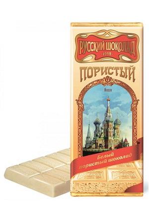Русский шоколад пористый белый, 90г. Россия с доставкой по Словении