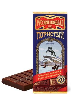 Русский шоколад пористый горький, 90г. Россия с доставкой по Словении
