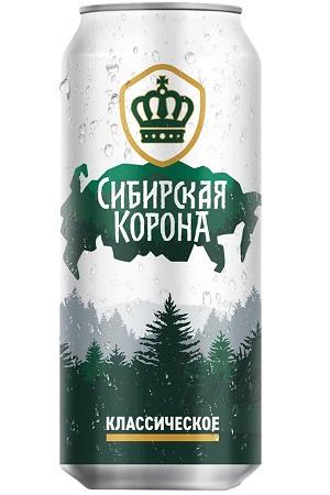 Пиво светлое Сибирская корона 5,3%, 0,45л Россия с доставкой по Словении