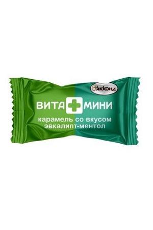 Карамель Вита+Мини со вкусом эвкалипта и ментола, товар весовой Россия с доставкой по Словении