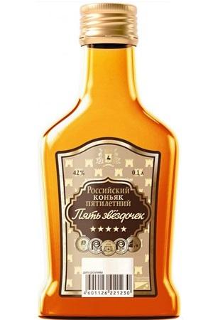 Brandy 5 zvezdic Sordis, 0,1L Rusija z dostavo v Sloveniji