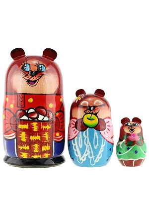 Matrješka-živali 3 lutke, Rusija z dostavo v Sloveniji
