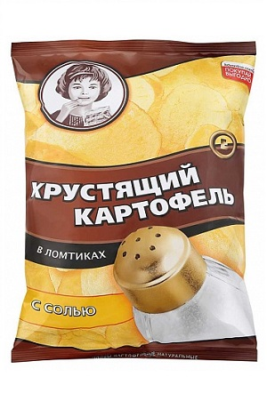Čips Hrustljav Moskovski krompir s soljo 160g. Rusija z dostavo v Sloveniji