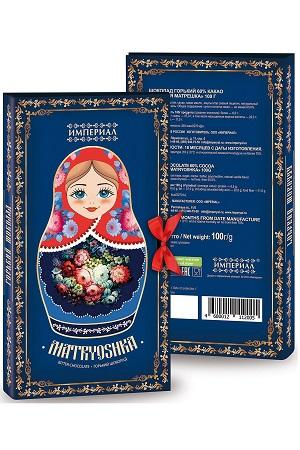 Grenka čokolada Matrješka 100g. Rusija z dostavo v Sloveniji