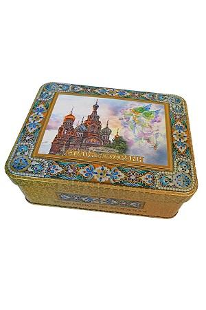 Čaj črni Box z magnetom Hram Spasa na Krovi, 50g z dostavo v Sloveniji