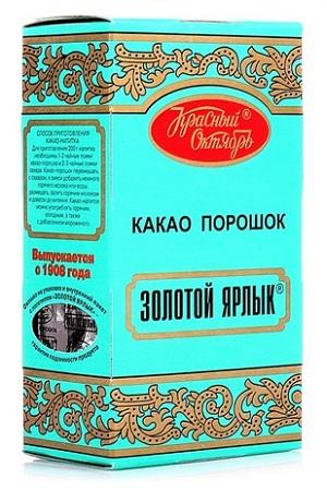 Какао-порошок Красный Октябрь Золотой ярлык 100г. с доставкой по Словении