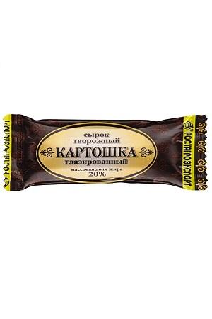 Skutni sirok Krompir v čokoglazuri, 45g. Rusija zmrznjen izdelek z dostavo v Sloveniji