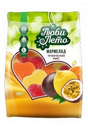 Žele Tropik Mix, 300g. Rusija z dostavo v Sloveniji