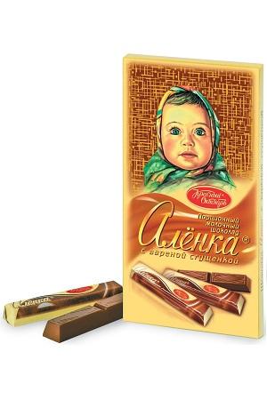 Mlečna čokolada Aljonka v stikah, 100g. Rusija z dostavo v Sloveniji