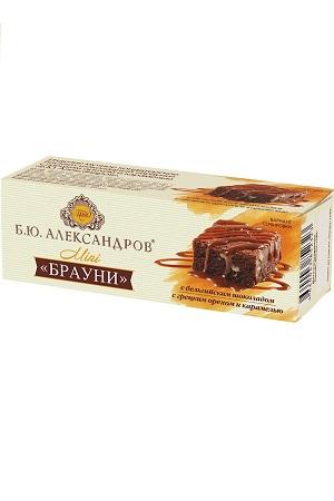 Biskvit Brauni z orehi in karamelo B.J. Aleksandrov, 40g Rusija z dostavo v Sloveniji