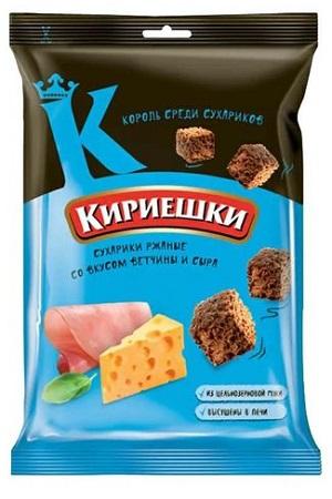Кириешки MAXI со вкусом ветчины и сыра, 100г. с доставкой по Словении