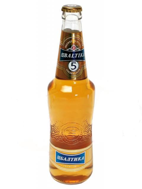 Пиво Балтика №5 Gold, 5,3% 0,47л Россия с доставкой по Словении