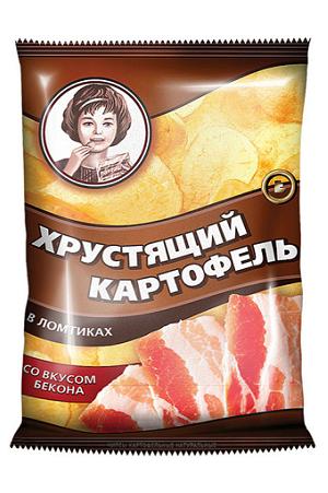 Čips Hrustljav Moskovski krompir z okusom slanine 160g. Rusija z dostavo v Sloveniji