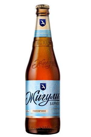 Пиво Жигули Барное светлое пшеничное 4,9 % с доставкой по Словении