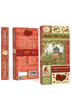 Мармелад клюквенный в темном шоколаде Православный 150г. с доставкой по Словении